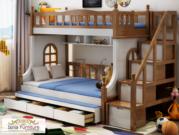 Tempat Tidur Tingkat Terbaru Berbahan Kayu Jati