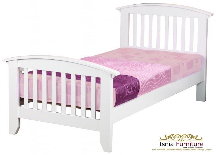 Gambar-Tempat-tidur-anak-putih-murah-mahoni Dipan Tidur Anak Minimalis Putih