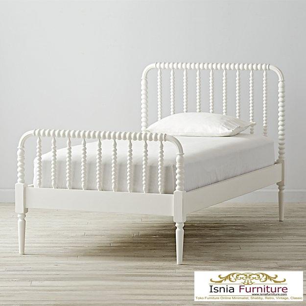 Jual-Tempat-Tidur-Murah-Warna-Putih Dipan Tidur Anak Minimalis Putih