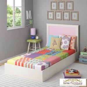 Dipan Tidur Anak Minimalis Putih