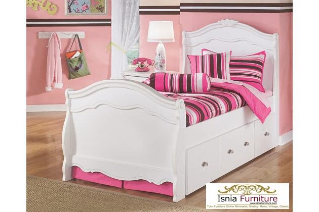 Tempat-Tidur-Anak-Modern-Murah- Dipan Tidur Anak Minimalis Putih