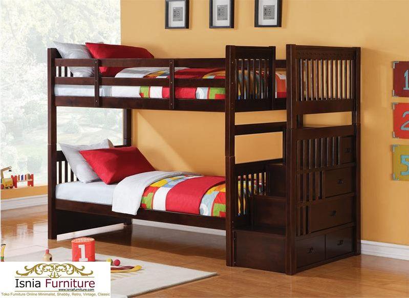 Tempat-Tidur-Tingkat-Anak-Modern-Coklat Tempat Tidur Tingkat Anak Modern