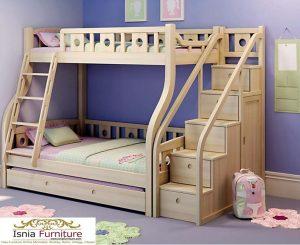 Tempat Tidur Tingkat Anak Modern Natural