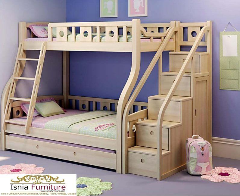 Tempat-Tidur-Tingkat-Anak-Modern-Natural Tempat Tidur Tingkat Anak Modern