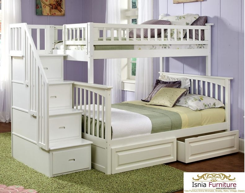 Tempat-Tidur-Tingkat-Anak-Modern-Putih Tempat Tidur Tingkat Anak Modern