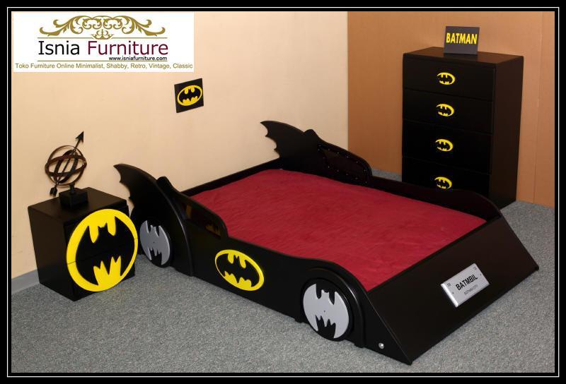 set-kamar-tidur-anak-bentuk-batman-unik-kartun Kamar Set Anak Karakter Batman
