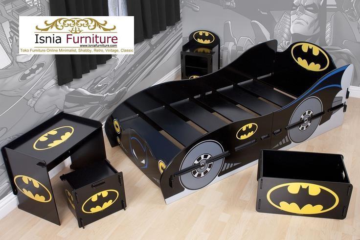 set-tempat-tidur-anak-model-batman Kamar Set Anak Karakter Batman