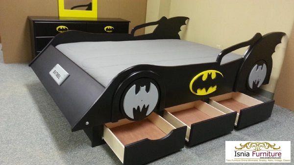 tempat-tidur-anak-laki-laki-batman-laci Kamar Set Anak Karakter Batman