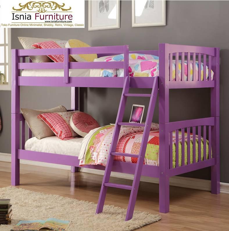 Dipan-Tingkat-Anak-Model-Cute 49 Tempat Tidur Tingkat Kayu Minimalis | JUAL HARGA MURAH
