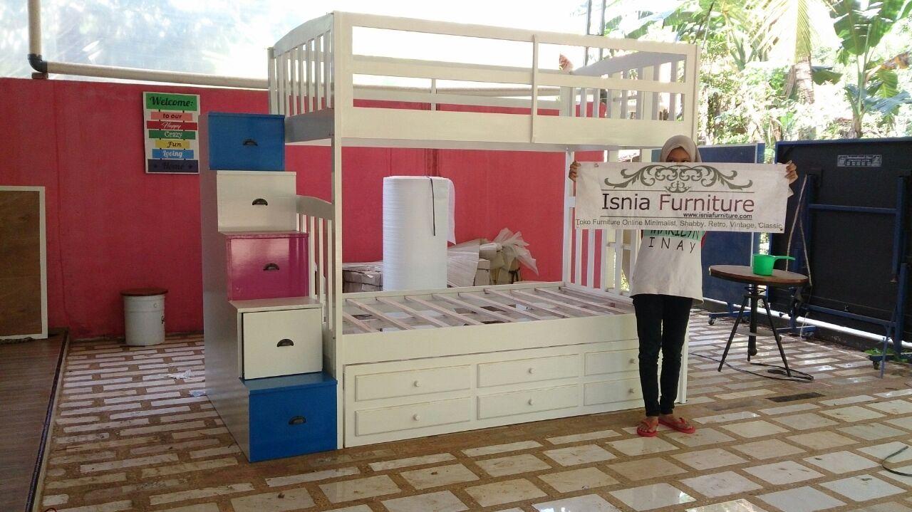 Tempat-Tidur-Anak-Tingkat-Sorong-Duco Tempat Tidur Anak Tingkat Sorong