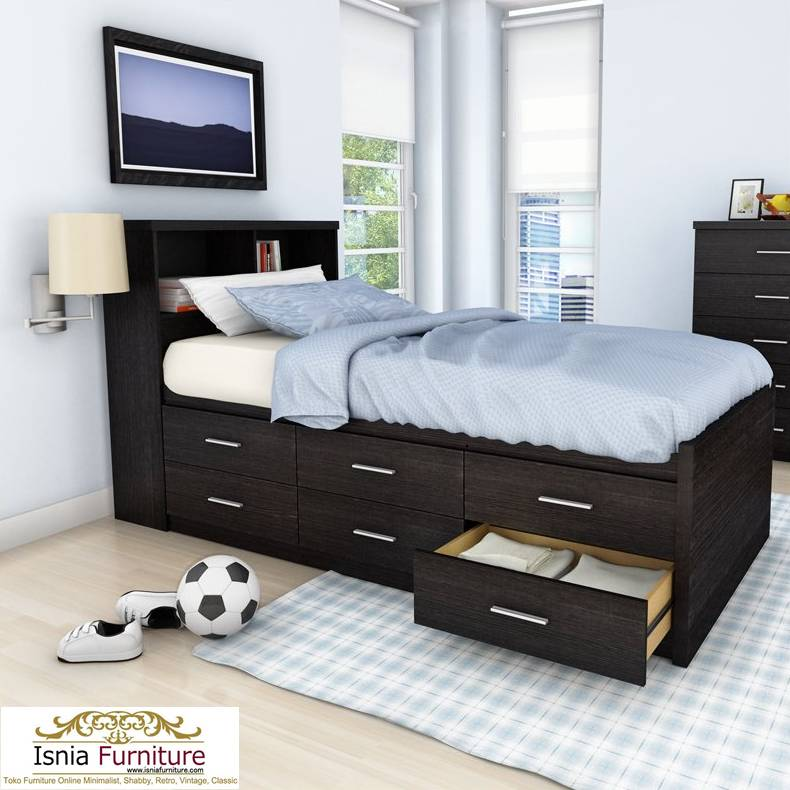 Tempat-Tidur-Laci-Modern-Paling-Terbaru-Dan-Laris-Coklat Tempat Tidur Laci Modern Paling Terbaru Dan Laris