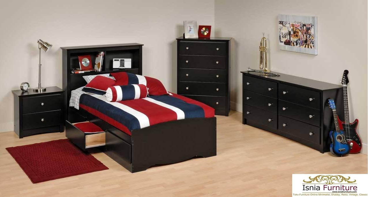 Tempat Tidur Sorong Single Minimalis