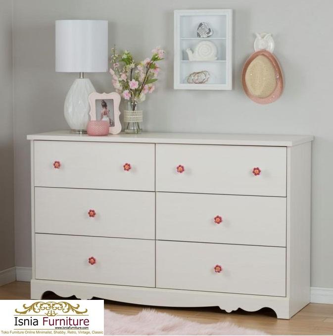 Dresser-Anak-Modern-Bahan-Kayu-Berkualitas-Putih Dresser Anak Modern Bahan Kayu Berkualitas