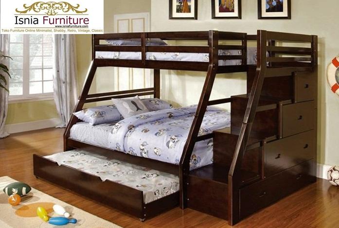 Model-Tempat-Tidur-Tingkat-Kayu-Jati-Coklat 49 Tempat Tidur Tingkat Kayu Minimalis | JUAL HARGA MURAH