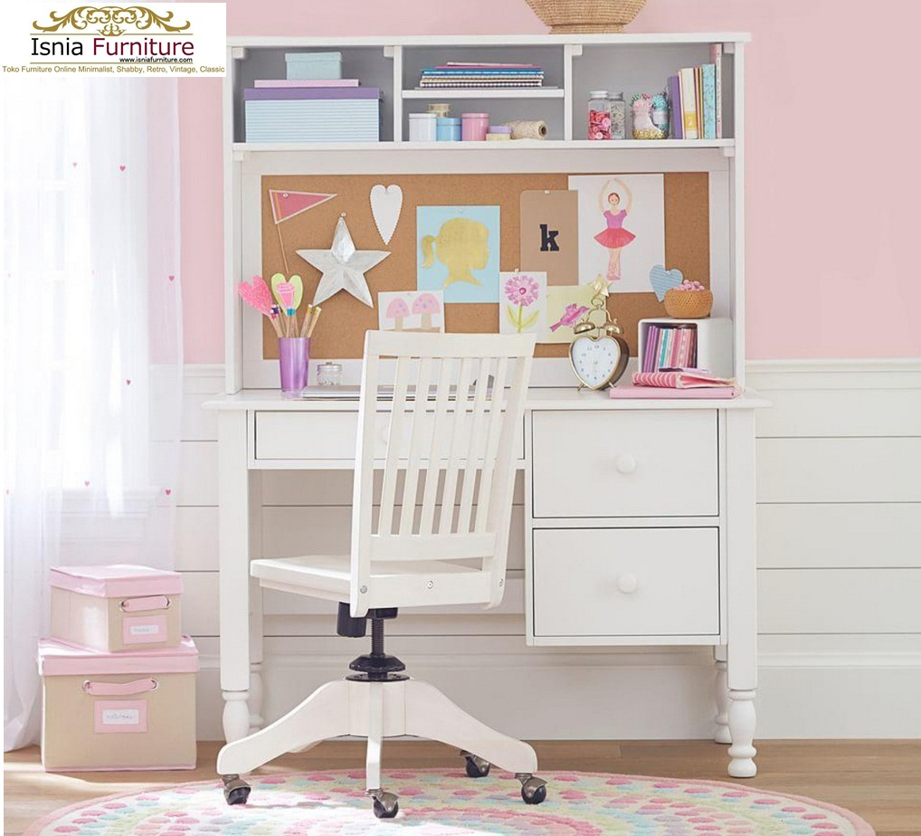 Set-Kursi-Meja-Belajar-Anak-Modern-Kayu-Jati-Putih Set Kursi Meja Belajar Anak Modern Kayu Jati