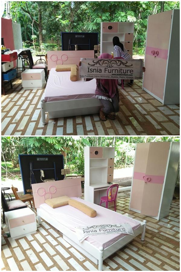 Set Ranjang Tidur Anak Round Pink Jakarta - Pesanan Bu Sarah