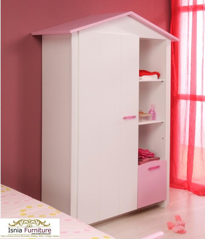 Lemari-Pakaian-Anak-Minimalis-Cantik-Dan-Anggun-Pink-Home Lemari Pakaian Anak Minimalis Cantik Dan Anggun