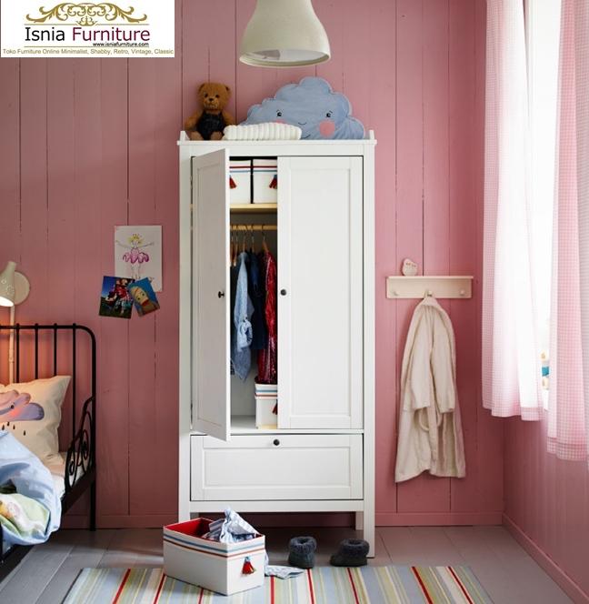 Lemari-Pakaian-Anak-Minimalis-Cantik-Dan-Anggun-Putih Lemari Pakaian Anak Minimalis Cantik Dan Anggun