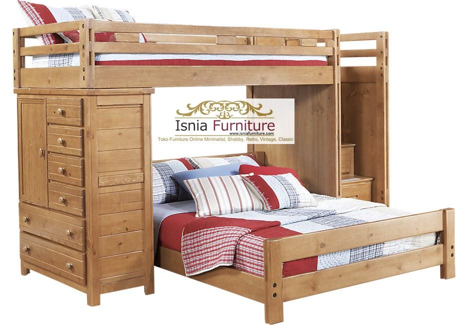 Tempat Tidur Tingkat Kombinasi