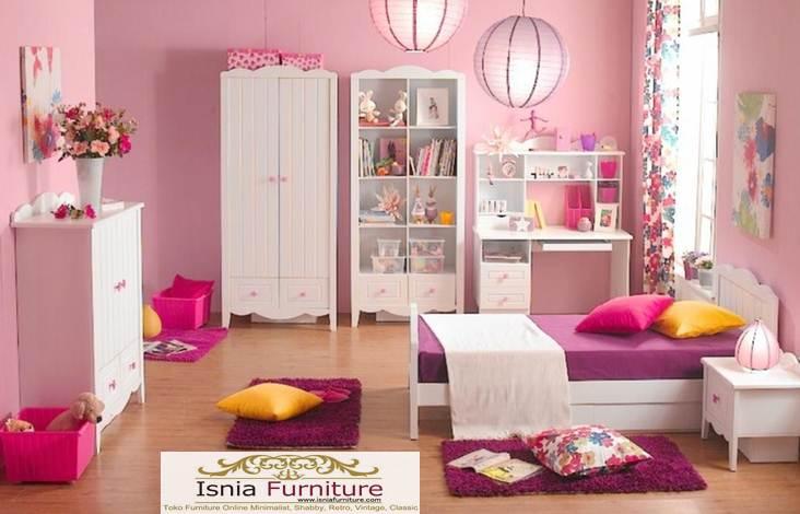 Kamar-set-anak-perempuan-white-pink Kamar Set Anak Perempuan White-pink