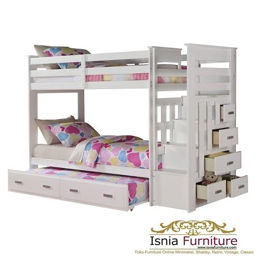 Tempat-Tidur-Tingkat-Mahoni-Laci-Samping 49 Model Tempat Tidur Tingkat Kayu Desain Minimalis | JUAL HARGA MURAH