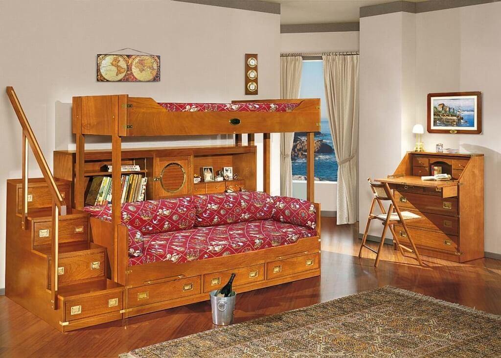 ranjang-tingkat-anak-dan-meja-belajar-kayu ranjang tingkat anak dan meja belajar kayu
