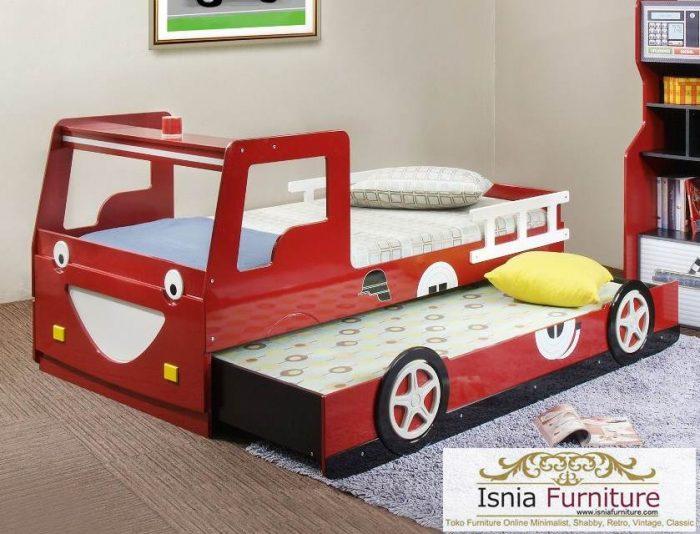 tempat tidur anak sorong karakter