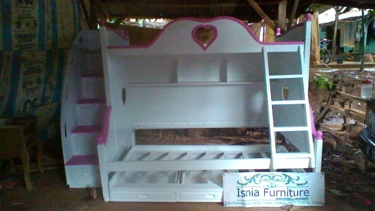 Dipan-Tingkat-Anak-Perempuan-Bogor-Bpk-Aditya 49 Model Tempat Tidur Tingkat Kayu Desain Minimalis | JUAL HARGA MURAH