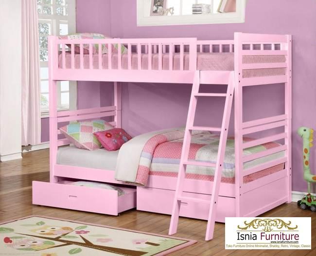 Harga-Tempat-tidur-susun-perempuan Tempat Tidur Tingkat Anak Perempuan