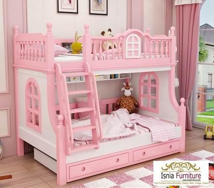 Tempat-Tidur-Susun-Perempuan Tempat Tidur Tingkat Anak Perempuan