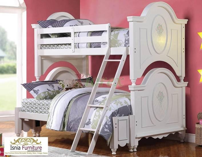 Tempat-tidur-tingkat-perempuan 49 Model Tempat Tidur Tingkat Kayu Desain Minimalis | JUAL HARGA MURAH