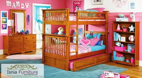Set-Kamar-Tingkat-Anak-Medan-Kayu-Jati 49 Model Tempat Tidur Tingkat Kayu Desain Minimalis | JUAL HARGA MURAH