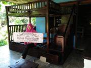 Tempat Tidur Jati Jakarta Model Tingkat-Sorong Laci