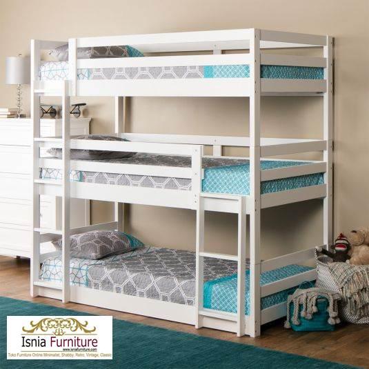 Jual-TEmpat-tidur-3-tingkat 49 Tempat Tidur Tingkat Kayu Minimalis | JUAL HARGA MURAH
