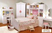 Set Kamar Tidur Anak Perempuan dengan Almari