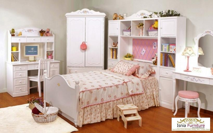 Set-Kamar-Tidur-Anak-Perempuan-dengan-Almari Set Kamar Tidur Anak Perempuan dengan Almari