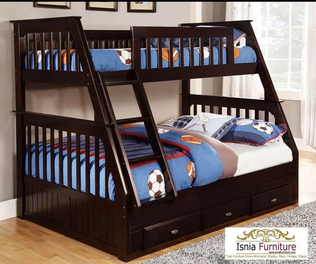 Tempat-Tidur-Tingkat-Minimalis-Anak 49 Tempat Tidur Tingkat Kayu Minimalis | JUAL HARGA MURAH