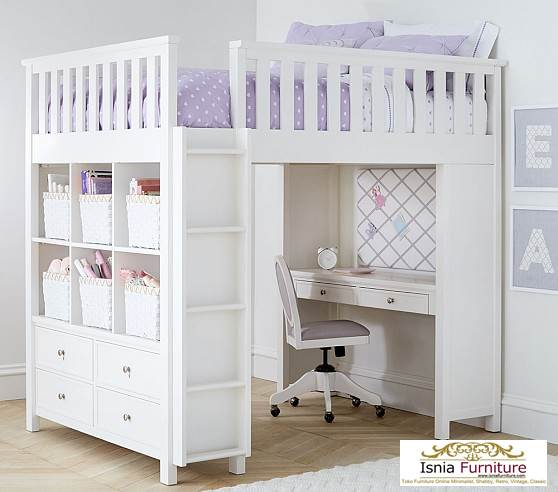 tempat-tidur-susun-dengan-meja 79 Model Ranjang Tempat Tidur Tingkat Kayu Minimalis Harga Murah