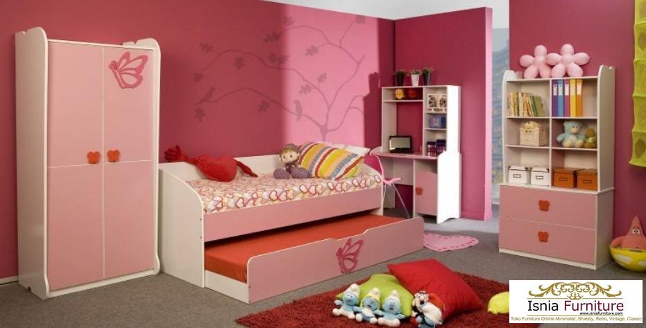 Kamar-Set-Anak-Perempuan-Pink-Cantik Kamar Set Anak Perempuan Pink Cantik
