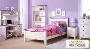 Set Tempat Tidur Anak Perempuan Simple Desain Terbaru