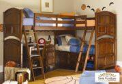 Tempat Tidur Tingkat Sudut Kayu Jati