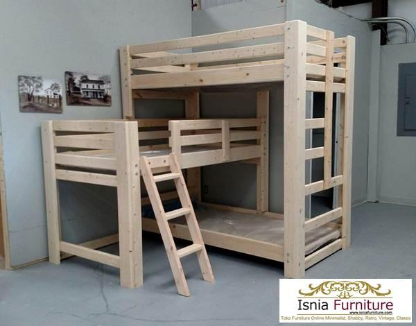 dipan-anak-3-tingkat Jual Tempat Tidur Tingkat Jakarta Model 3 Susun Kayu Jati