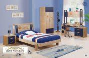 Kamar Set Anak Bandung Modern Kayu Jati dengan Lemari