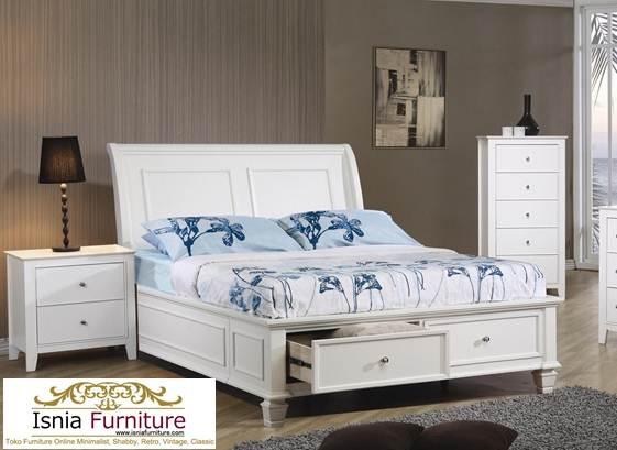 tempat-tidur-laci Tempat Tidur Laci Anak Medan Warna Putih