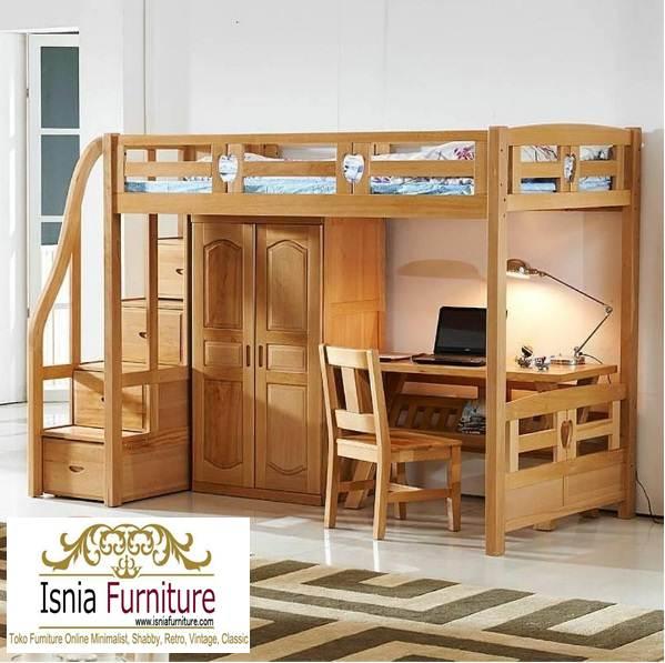 tempat-tidur-anak-tingkat-surabaya Ranjang Susun Surabaya Dengan Meja Komputer Kayu Jati