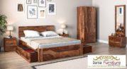 Set Kamar Tidur Kayu Mewah Klasik