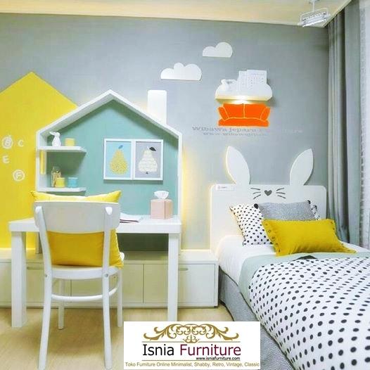 Meja-belajar-anak-kayu-minimalis-model-rumah-warna-putih Meja Belajar Anak Kayu Minimalis Model Rumah Warna Putih