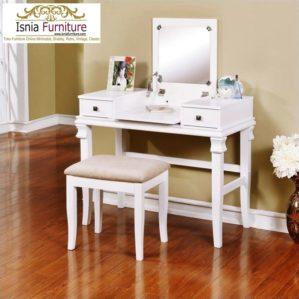 Meja Rias Minimalis Model Kaca Lipat Terbaru Warna Putih
