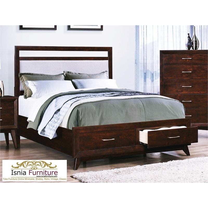 Model-Tempat-Tidur-Minimalis-Kayu-Jati-Dengan-2-Laci Model Tempat Tidur Minimalis Kayu Jati Dengan 2 Laci