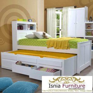 Tempat Tidur Sorong Berlaci Minimalis Untuk Anak